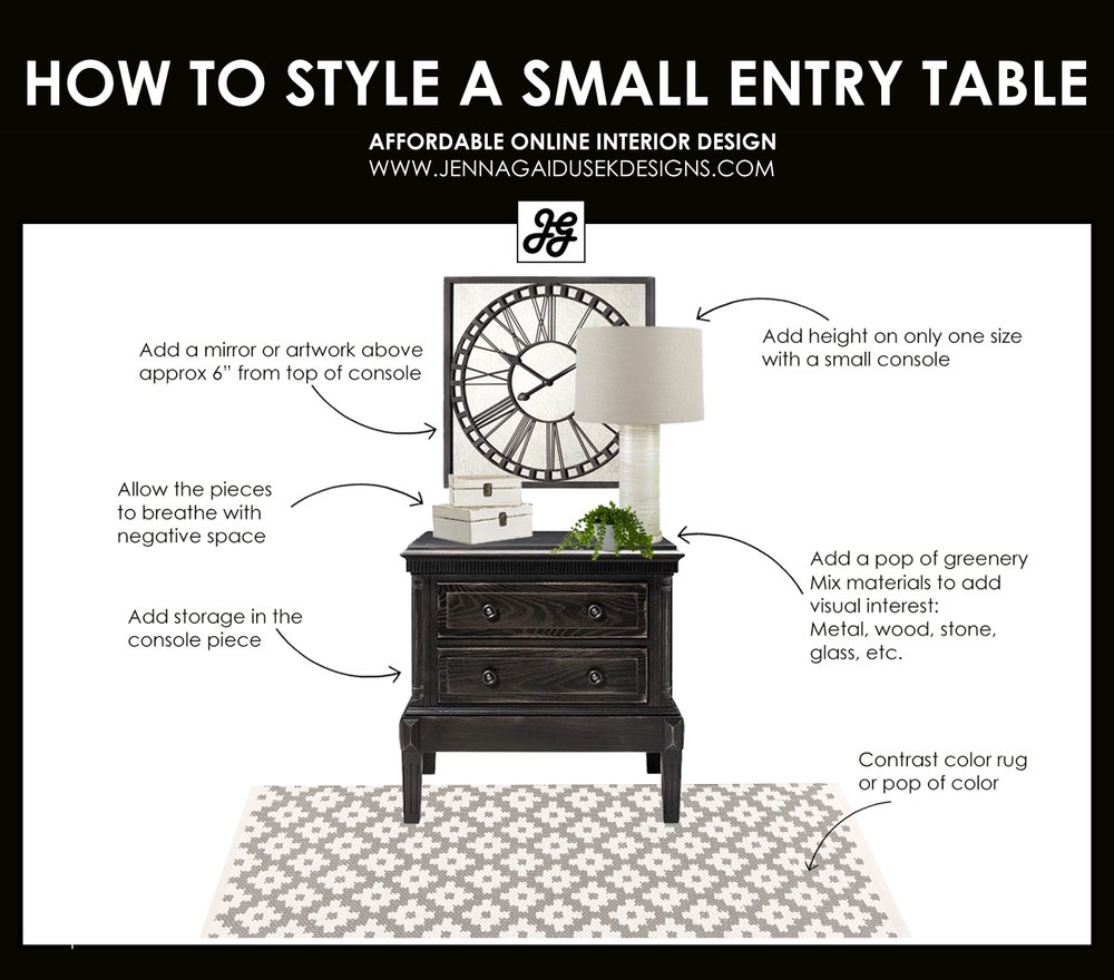 How to style a small entry table