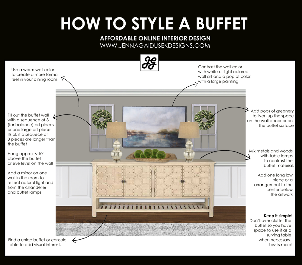 how to accessorize your buffet