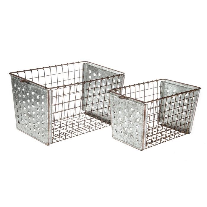 $49.98 Wire Galvanized Metal Basket Set