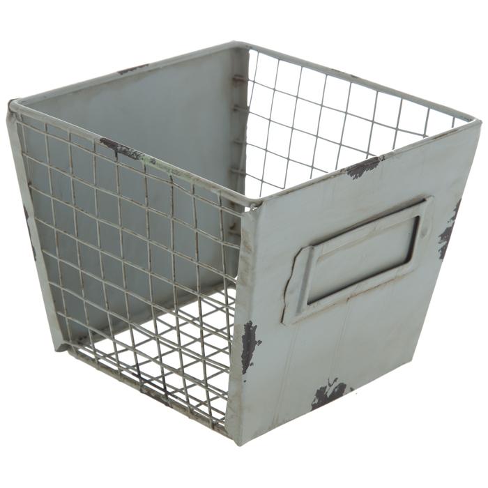 $9.99 Rustic Green Iron Storage Basket