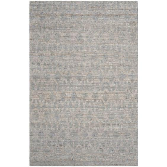 Safavieh Cape Cod Handmade Grey / Gold Jute Natural Fiber Rug (8' x 10')