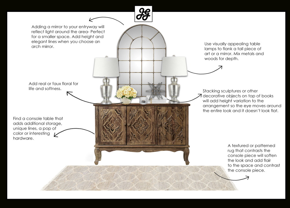 How to style a storage console table