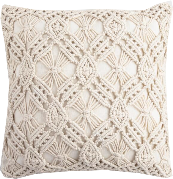 woven neutral pillow- farmhouse
