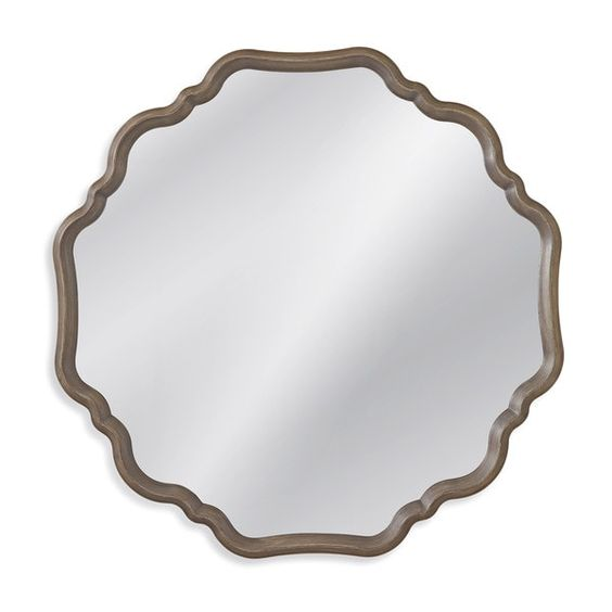 large scalloped mirror- overstock