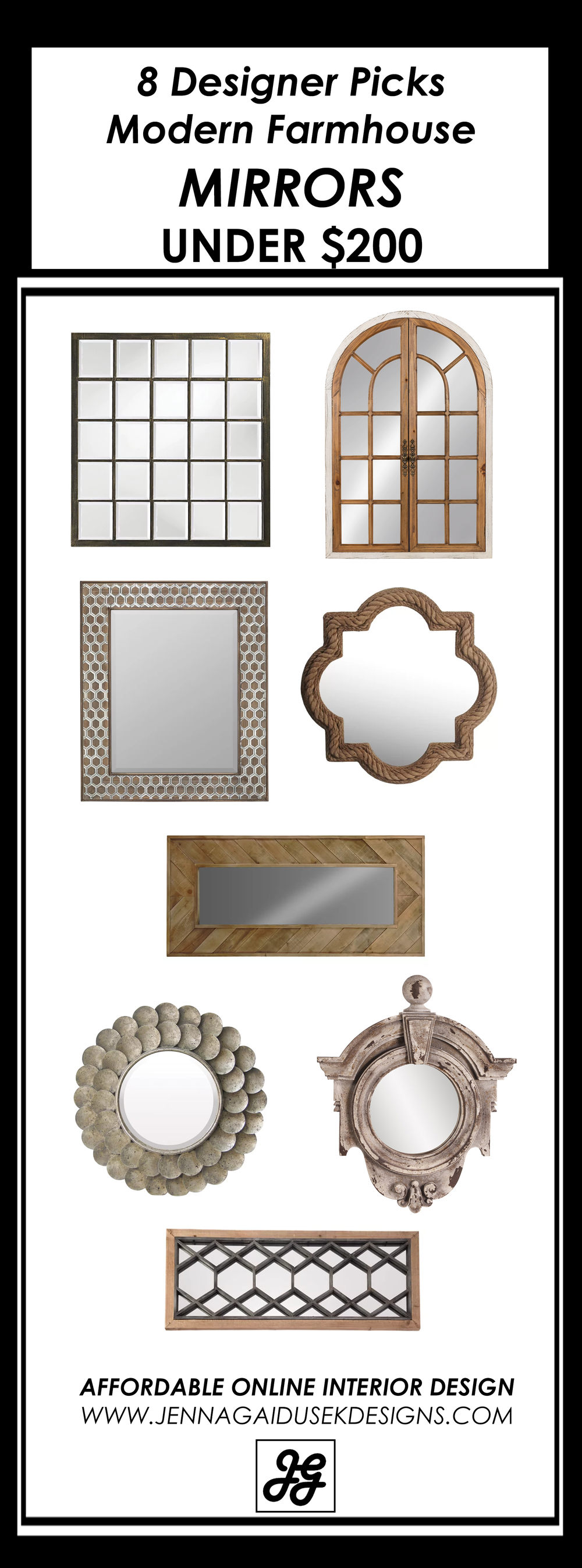 Farmhouse mirrors under $200