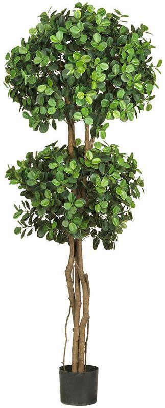 Nearly Natural 5.5-ft. Eucalyptus Double-Ball Topiary Silk Tree