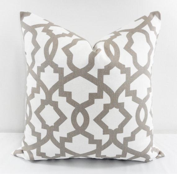 Neutral pattern pillow