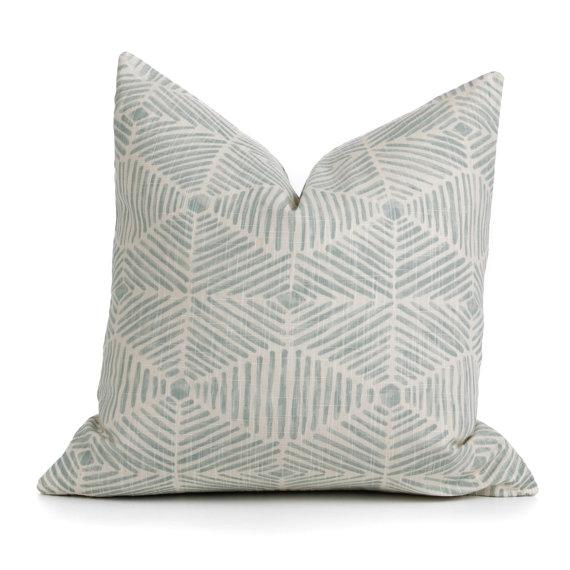seafoam accent pillow