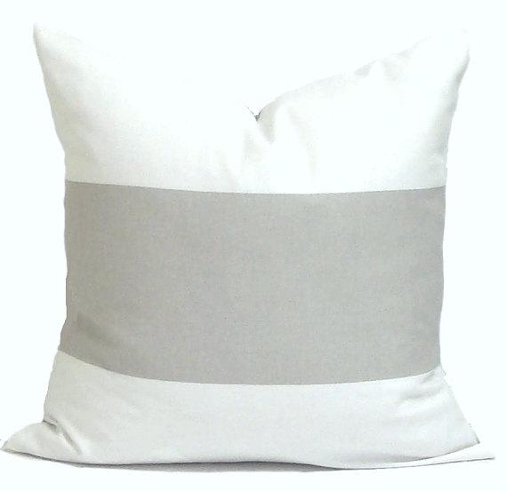 neutral stripe pillow cover
