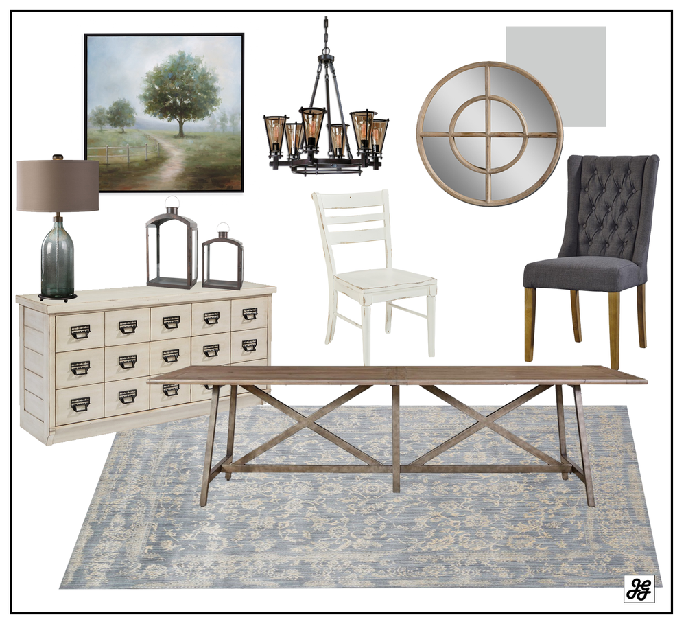 Shop the room- Refined farmhouse