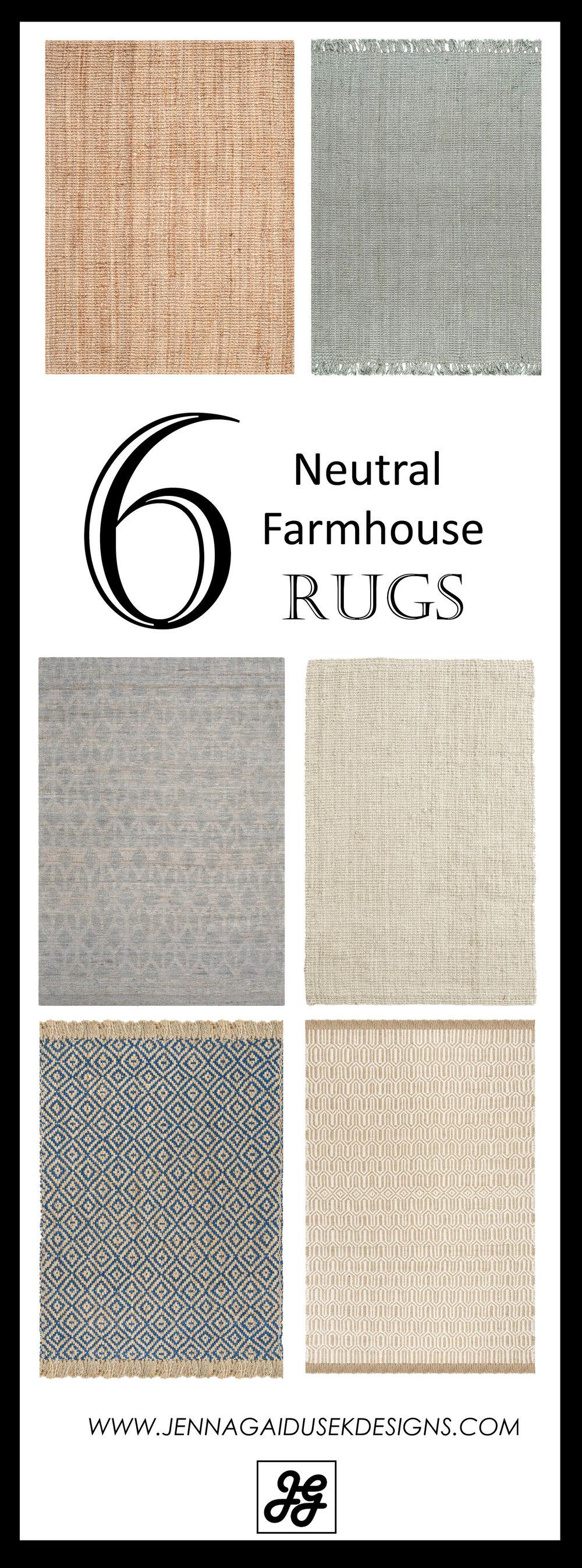 My Favorite Neutral Farmhouse rugs! -
