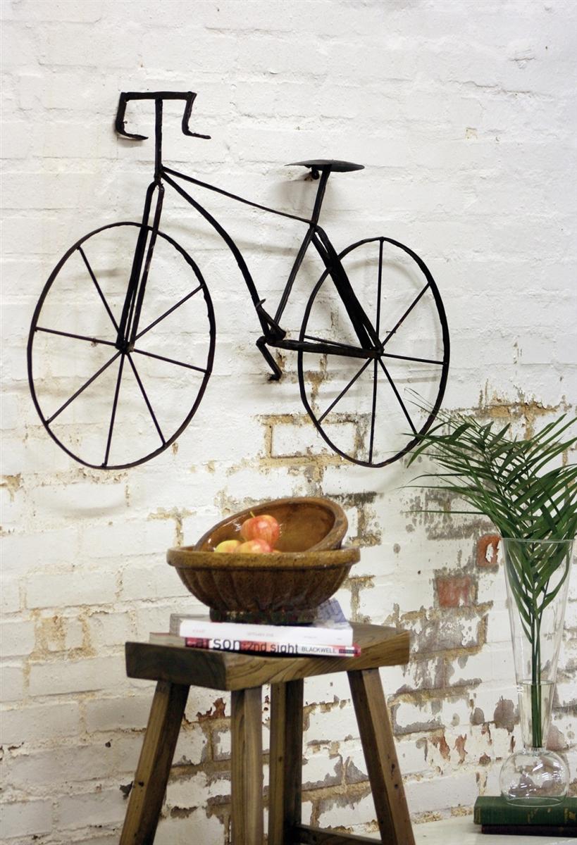 Scrap Metal Bicycle Wall Sculpture