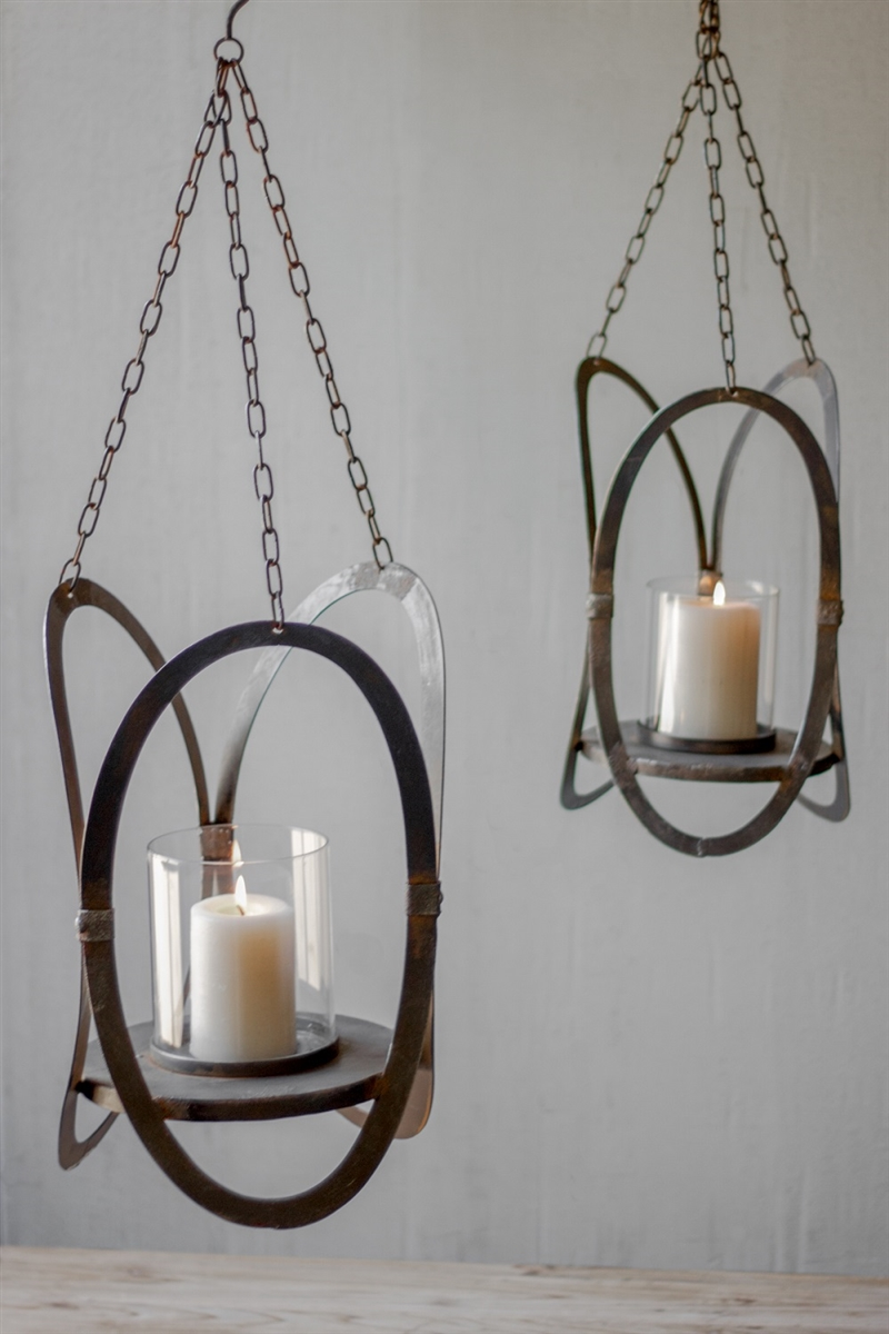 HANGING CANDLE HOLDERS - SET OF 2