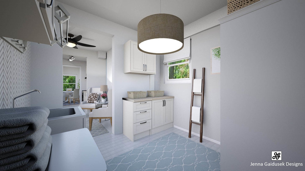 Virtually Staged Laundry Room