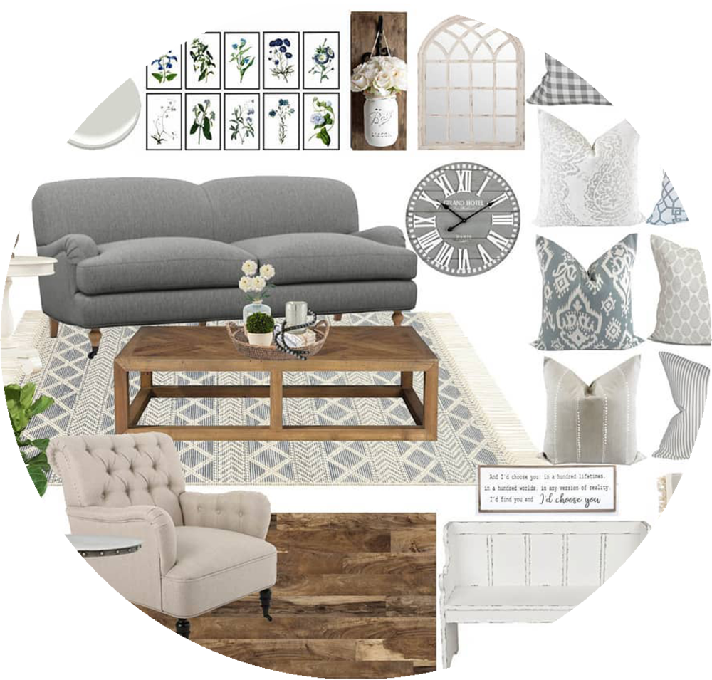 Refresh E-Design Service - This package is perfect if you don't need the full design, just help picking out paint, materials and furnishings. You get a mood board with all the paint, textiles, furniture and decor pieces you need to complete your space; as well as written set up instructions, a shopping list and complementary ordering service.