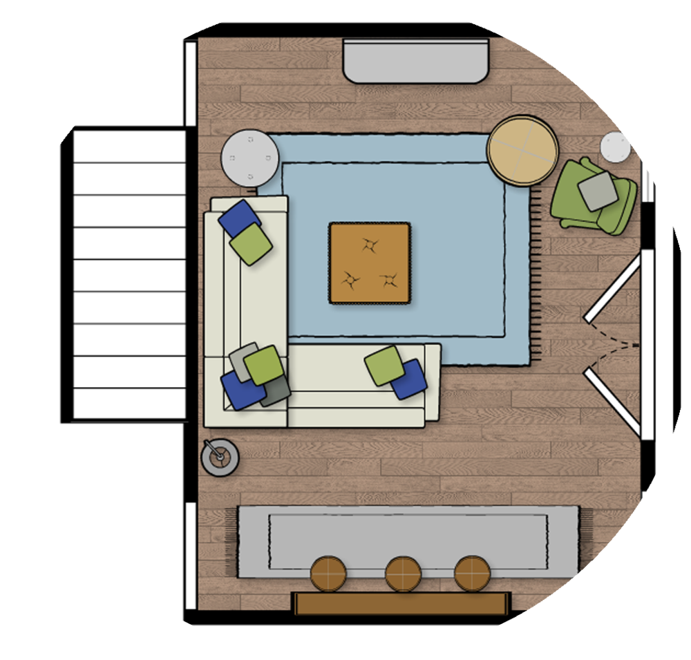 Furniture Layout- Floor Plan - Need help layout out your space? If you have a strange layout, a small space or a large open concept and you don't know how to layout the room- this package is exactly what you need! I'll send you 2-3 floor plan options to help you figure out how to best utilize your space.