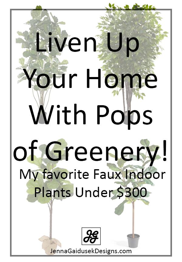 faux greenery under $300