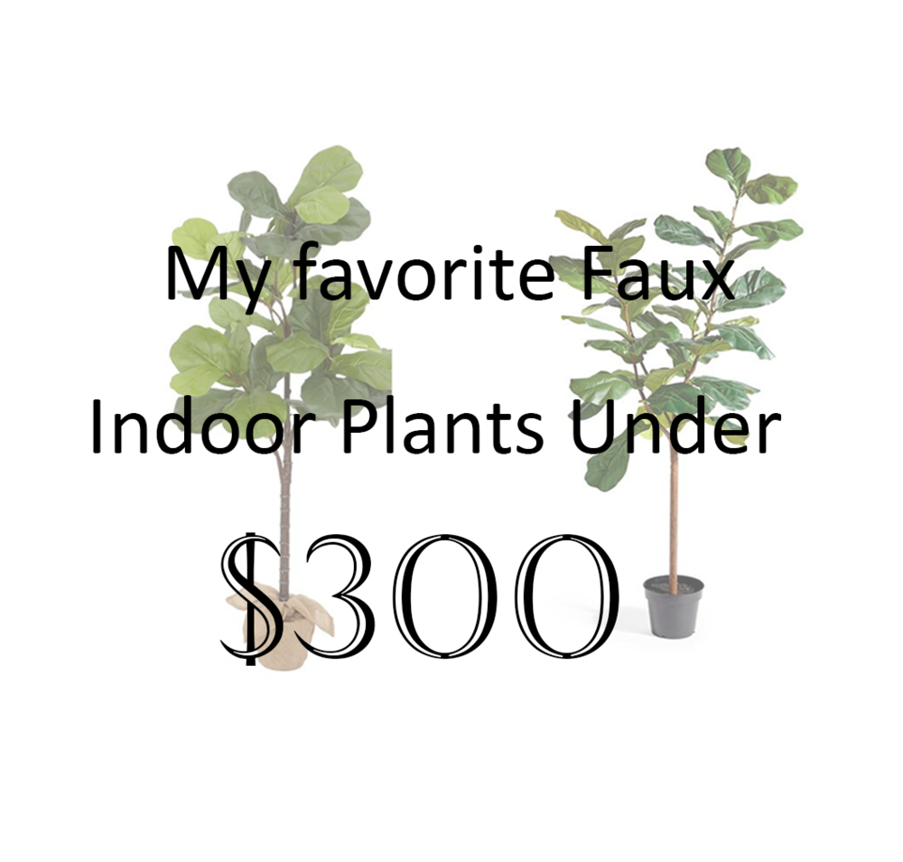 favorite designer faux indoor plants