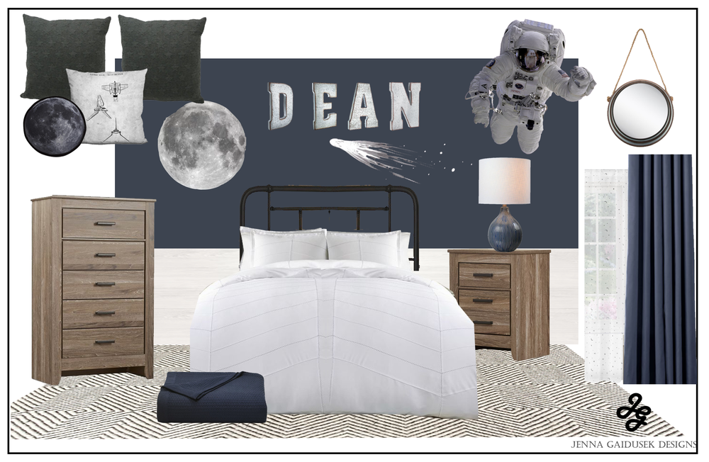 Boys Space Room - Get the Look for under $1500!