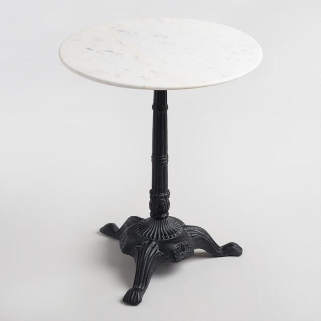World Market- Marble Bistro Accent Table