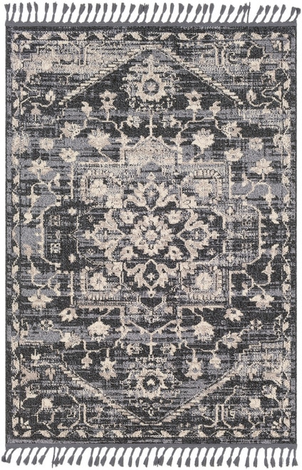 Restoration REO-2300 Area Rug Dark gray farmhouse rug
