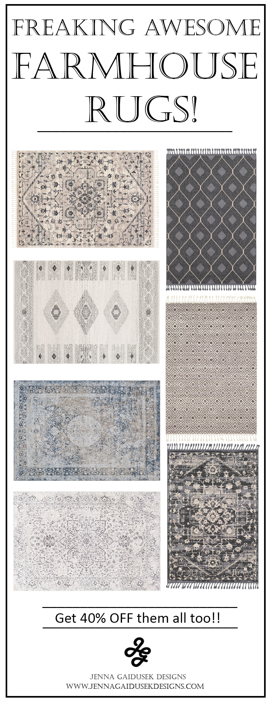 Freaking awesome farmhouse rugs! These are my favorite neutral, family friendly farmhouse rugs! I'm in love with the affordable rug prices from Boutique rugs and I have ordered a few modern farmhouse rugs already! Check out my designer picks and see what works best for your farmhouse living room, dining room rugs, bedroom rugs, runner rugs. The perfect neutral rug colors, blue rugs, gray rugs and pattern rugs.