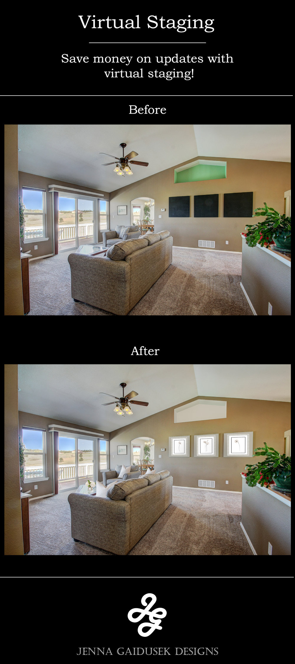virtual staging by Jenna Gaidusek Designs
