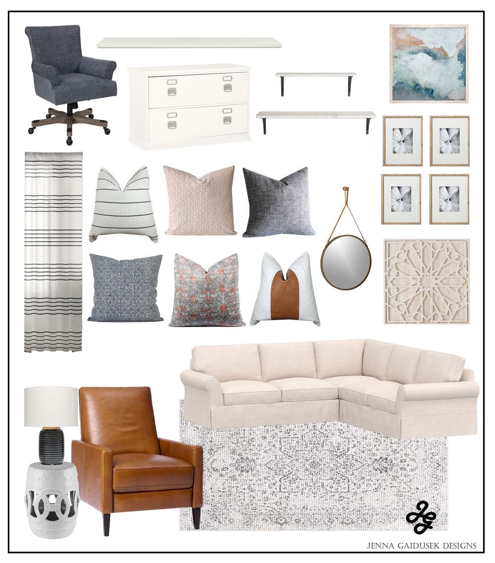 Boho Farmhouse Living Room Concept