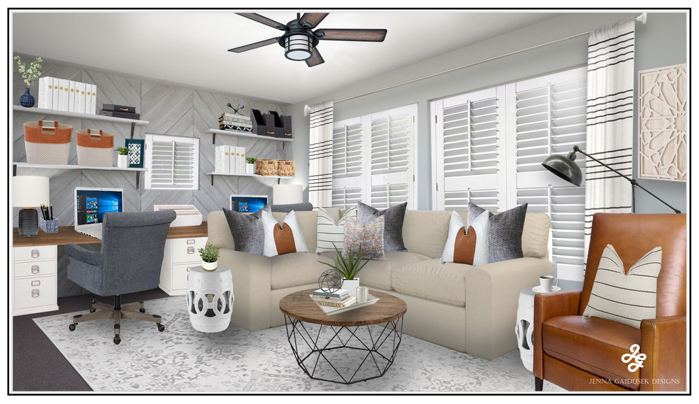 Boho Farmhouse Concept Living Room