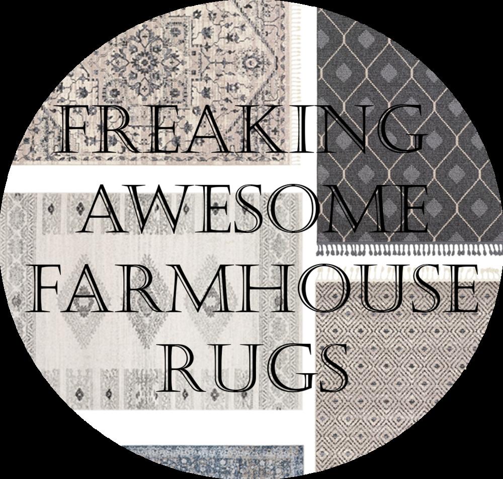 beautiful farmhouse rugs.