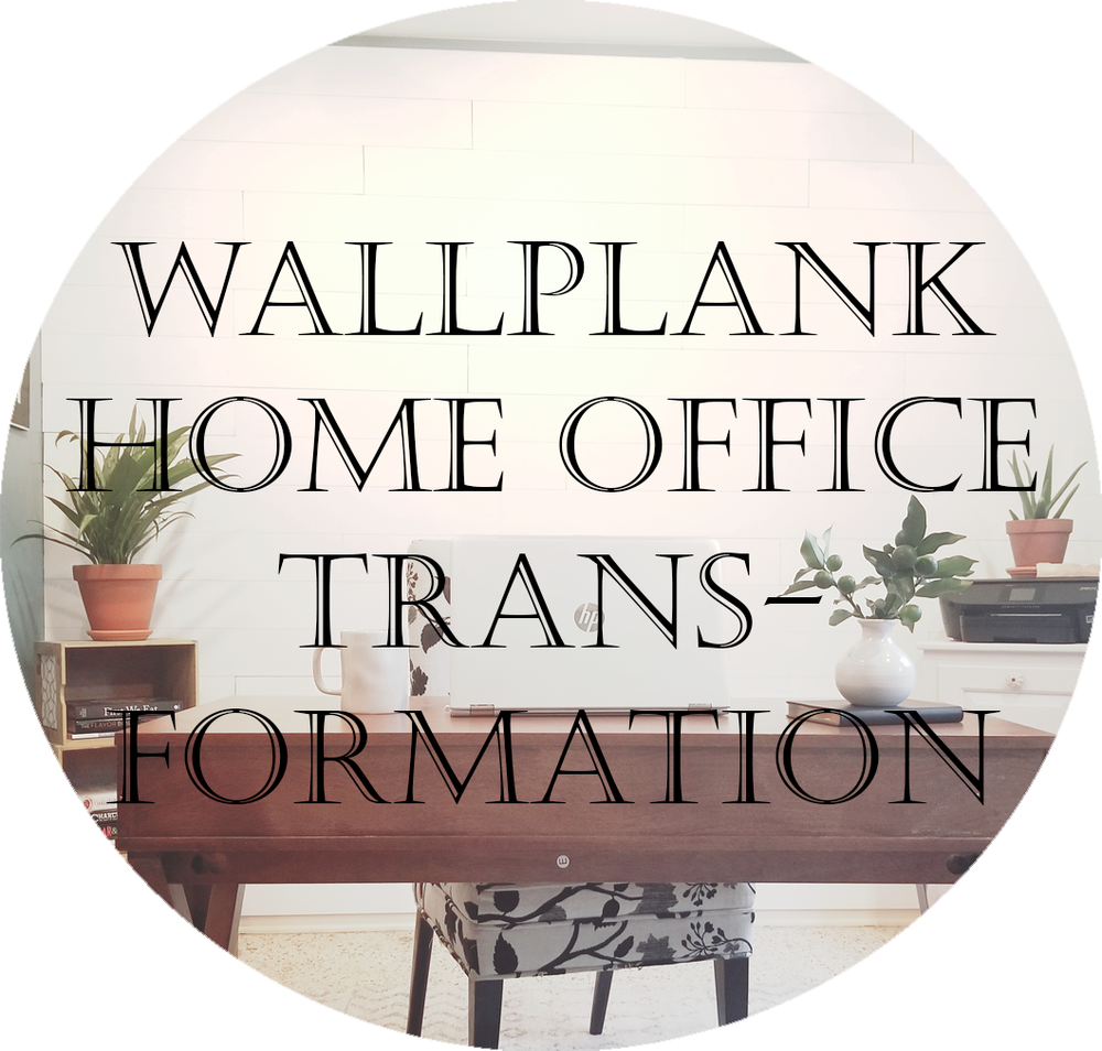 Wallplank shiplap home office. Accent wall shiplap DIY blog