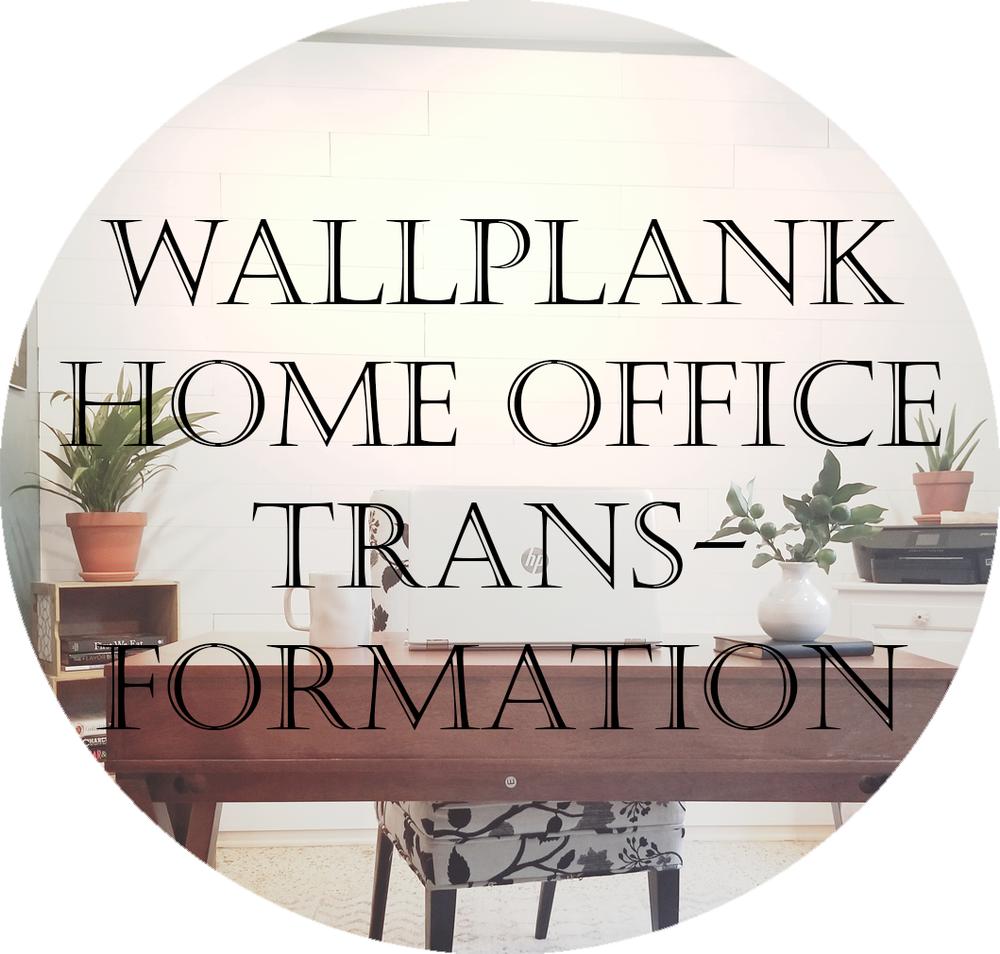 Wallplank shiplap home office. Accent wall shiplap DIY blog