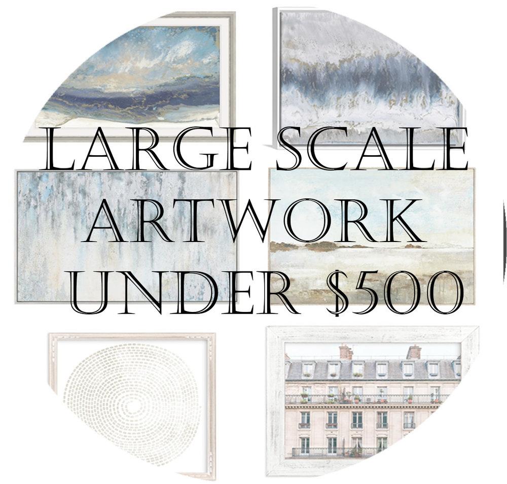 Large artwork under $500