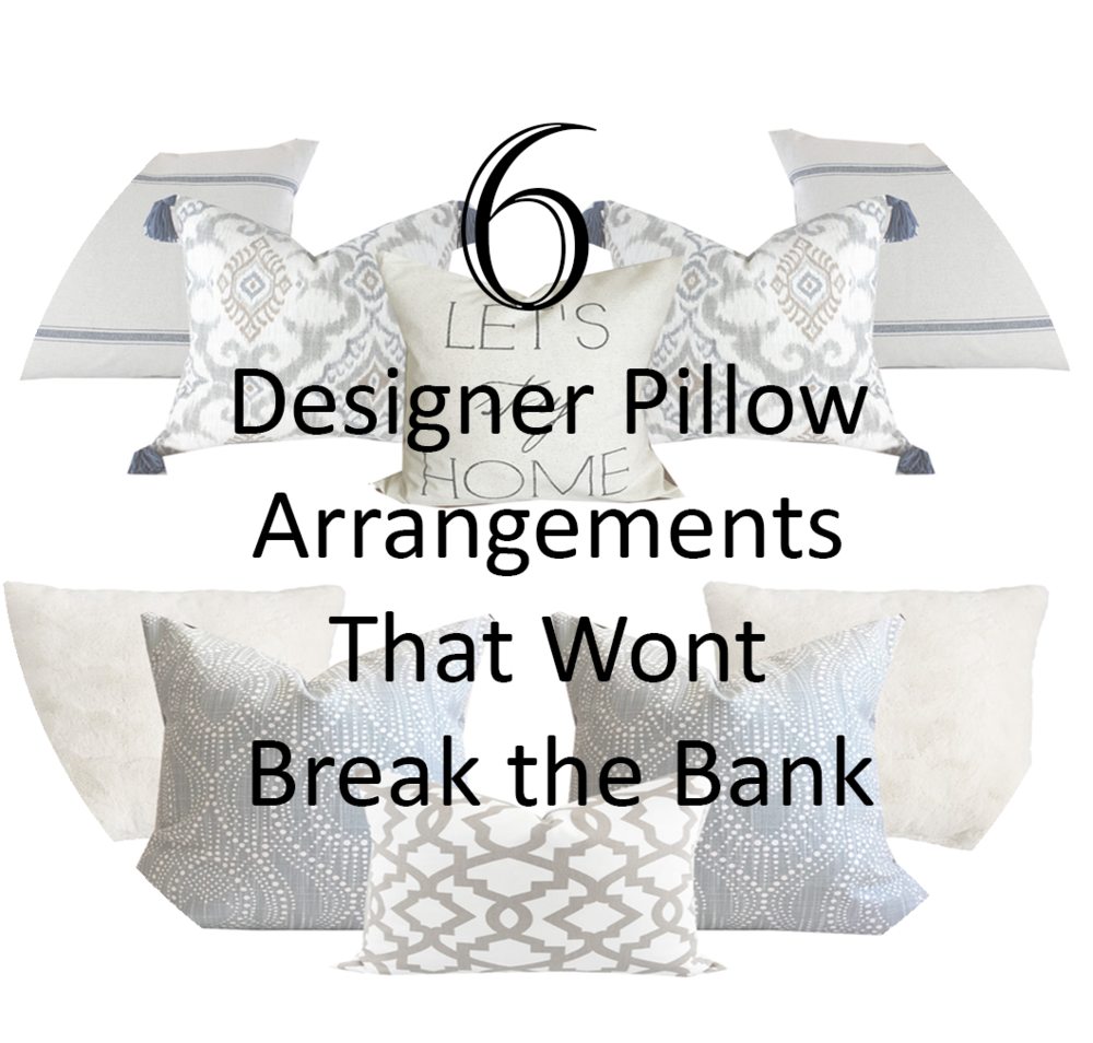Designer pillow arrangements- farmhouse pillow arrangements