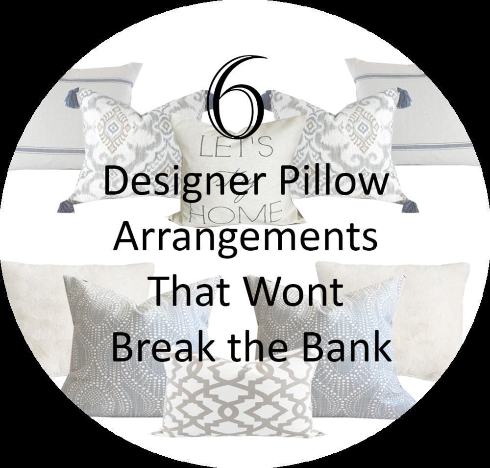 Designer pillow arrangements- farmhouse pillow arrangements