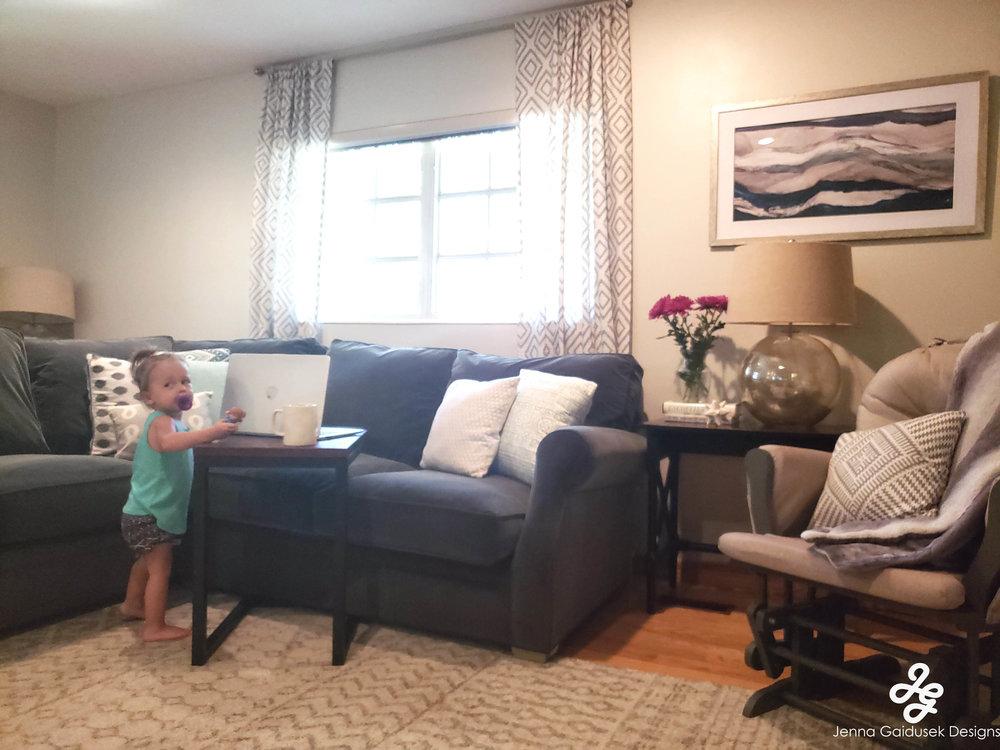 Kid friendly Living room- Refined modern farmhouse, grays- white, light blue, navy, charcoal.jpg