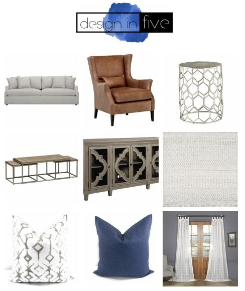 Transitional Living Room -