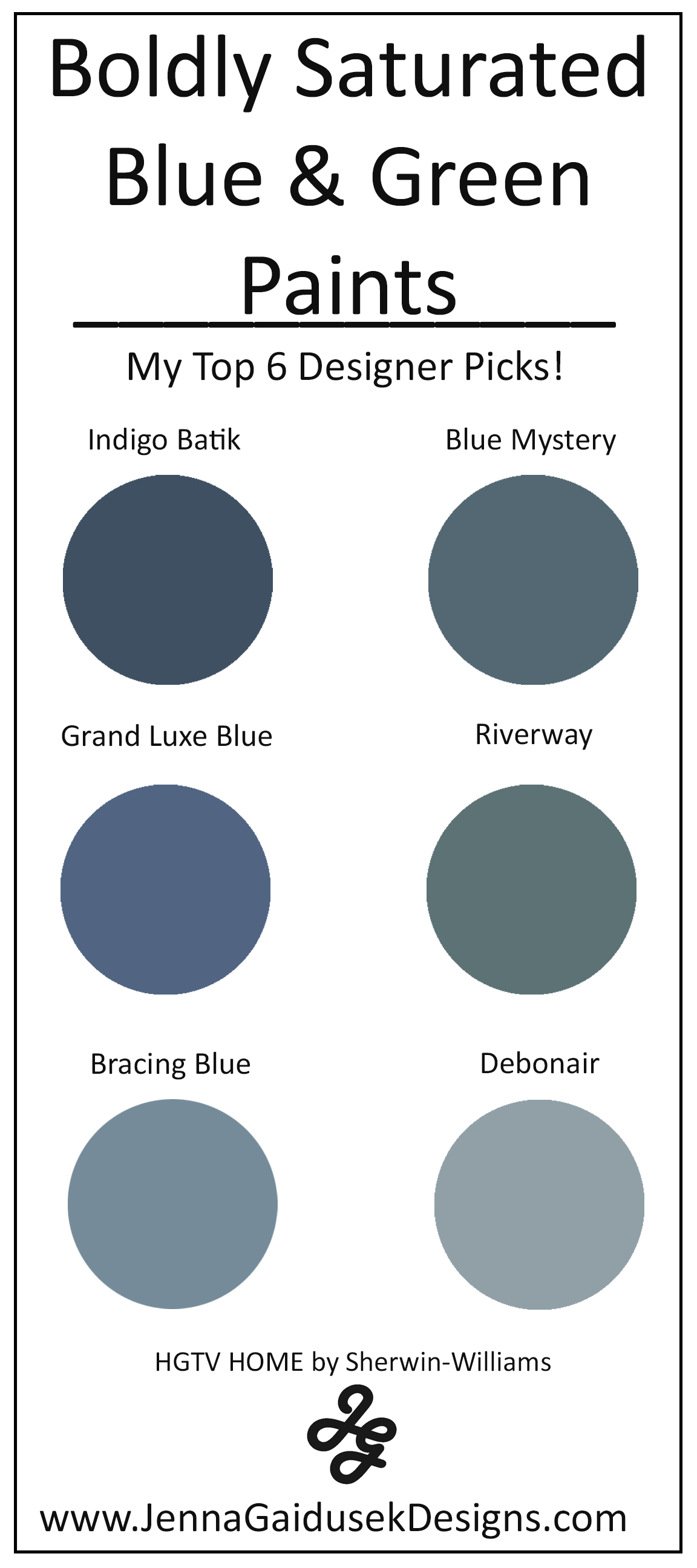 My Top 6 Bold Blue and Green Paint Colors- Best Accent Wall Paints ...