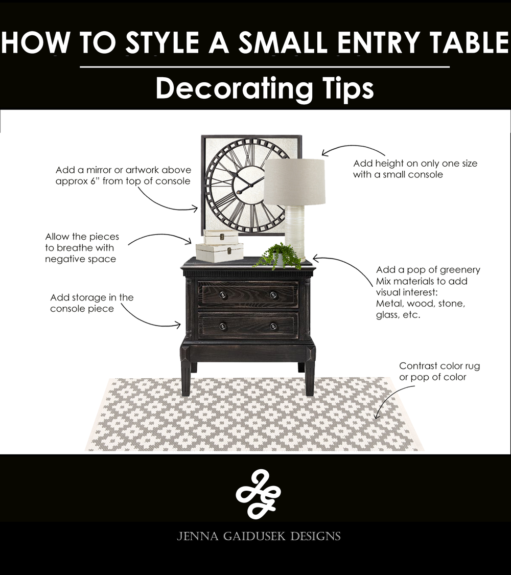 How to style a small console table.