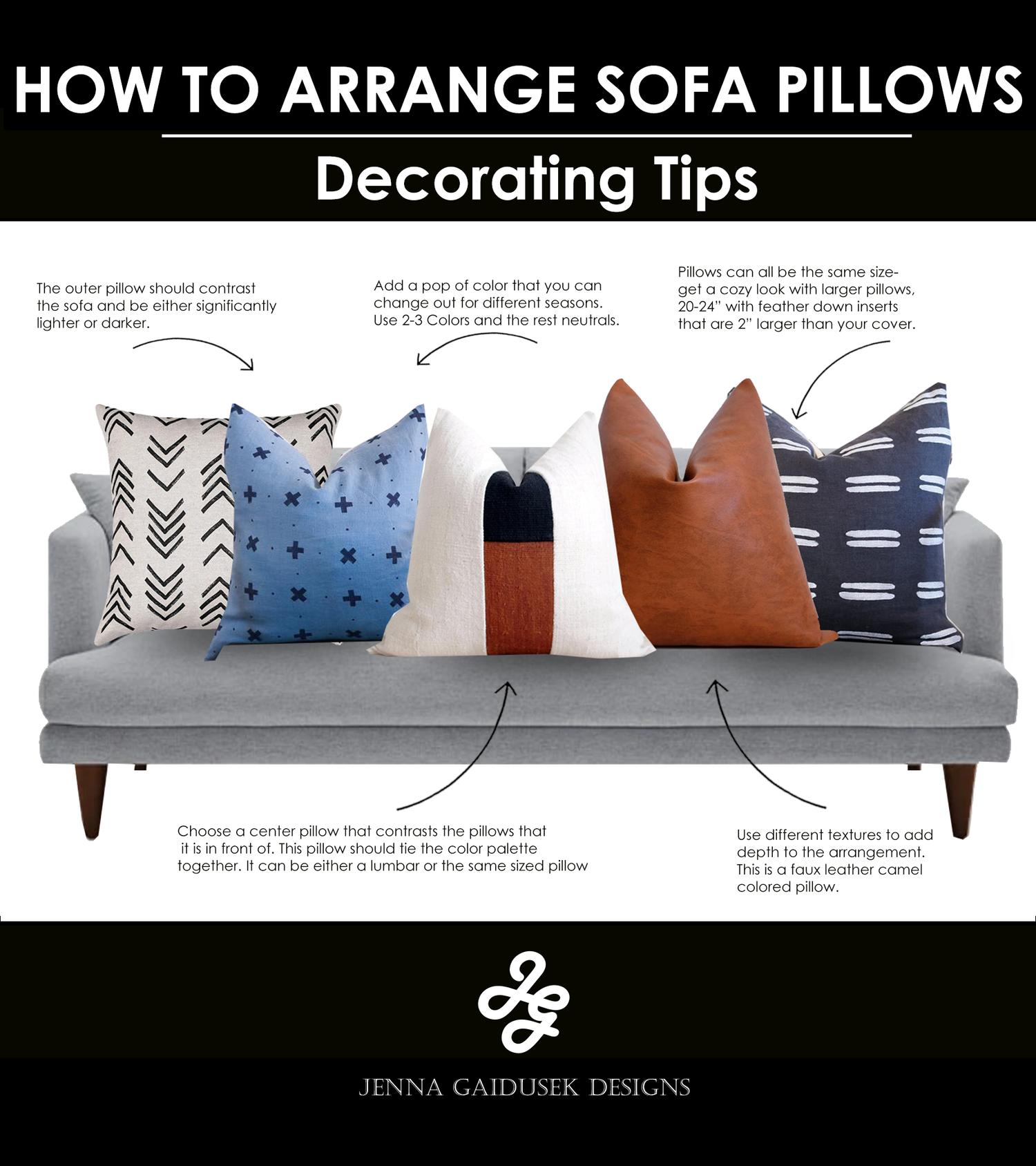 HOW TO STYLE YOUR SOFA PILLOWS — Jenna Gaidusek Designs