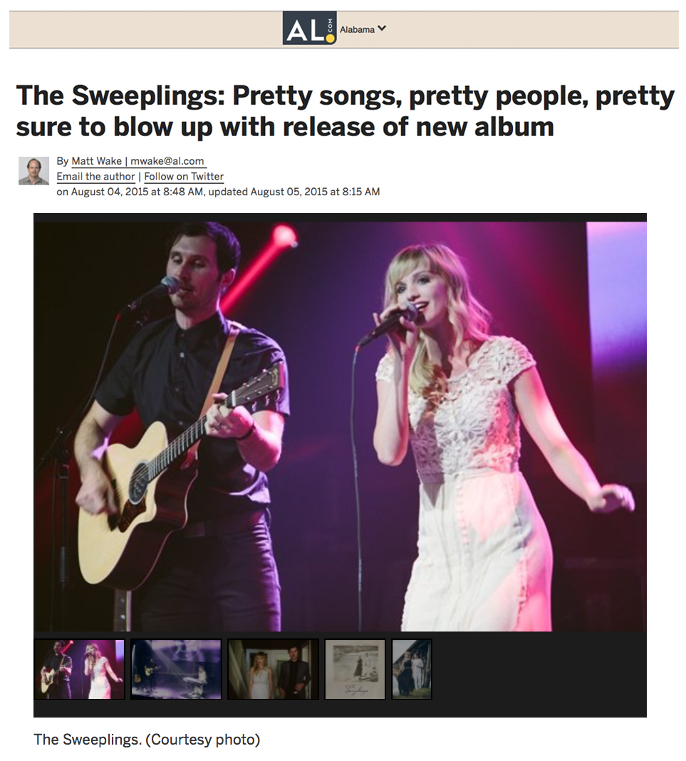 Al.com Article - AL.com with good things to say about rising duo The Sweeplings