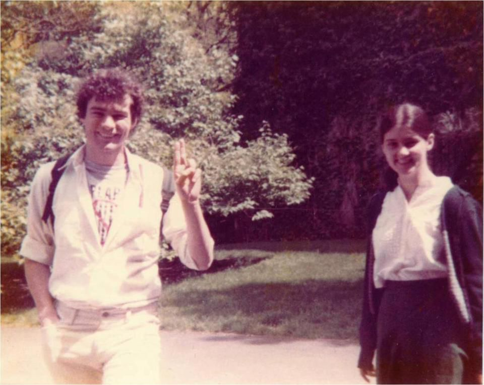 Tim Kaine with Anne at Harvard Law School