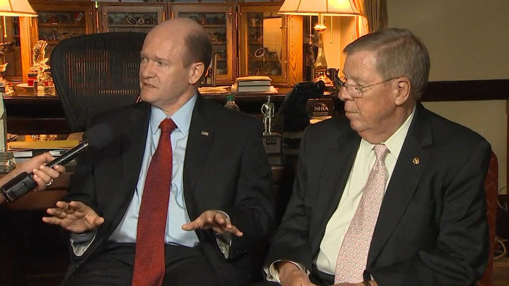 Senators Chris Coons and Johnny Isakson