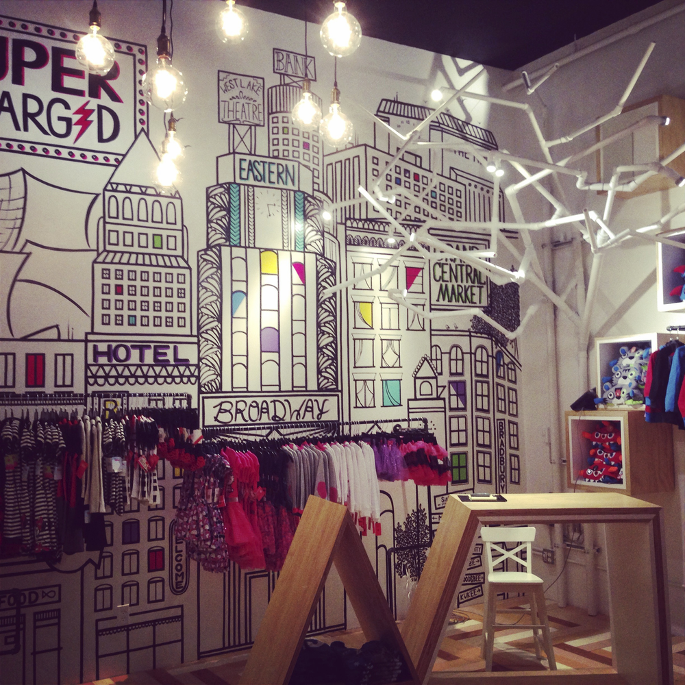 SUPERCHARGED - Kids Apparel Pop Up Store -  Experiential Design