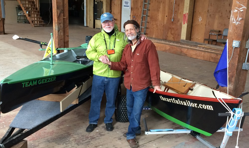 Team Artful Sailor (Emiliano Marino) and Team Geezer (Marty Loken) brothers in oars, ready to row!