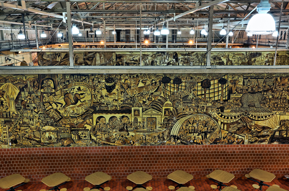 Ralph Pecor mural, San Quentin, courtesy of Officer P. Jo.