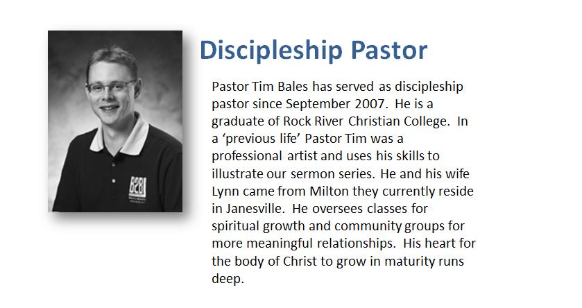 Contact Pastor Tim