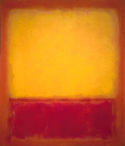Mark Rothko,   Yellow Over Purple,   1956