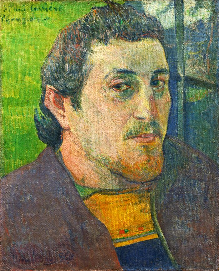 Paul Gaguin,  Self-Portrait-Dedicated-to-Carriere , 1889