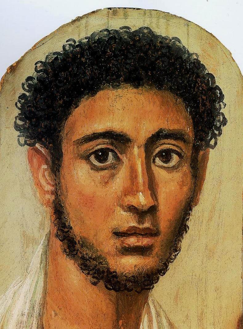 Fayum Mummy Portrait (not a self-portrait)